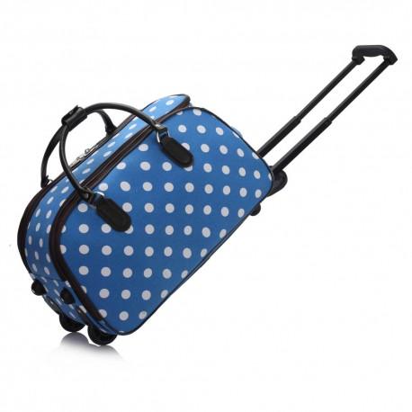 Cestovní taška s kolečky Ashley Puntík Blue