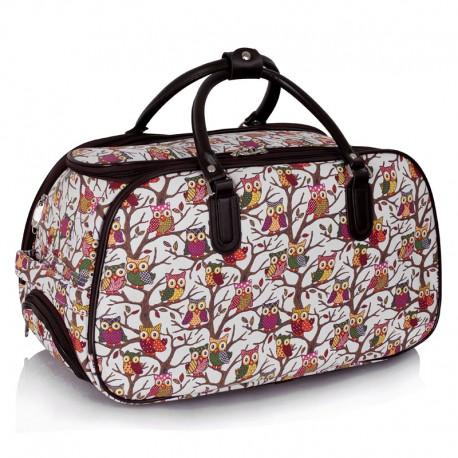 Cestovní taška s kolečky Ashley Sovičky White