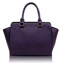 Elegantní kabelka Ashley Classic Fialová