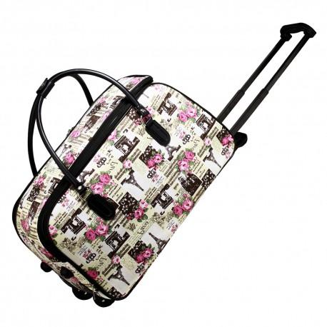 Cestovní taška s kolečky Ashley Paris Bílá