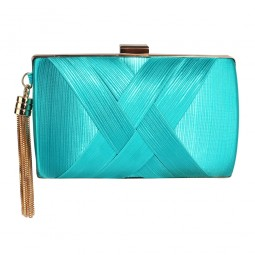 Emerald Tassel Clutch