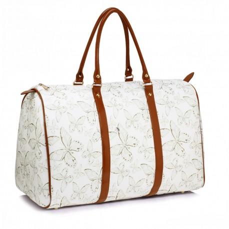 Cestovní taška White/Gold Butterfly