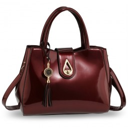 Burgundy Tassel Bag