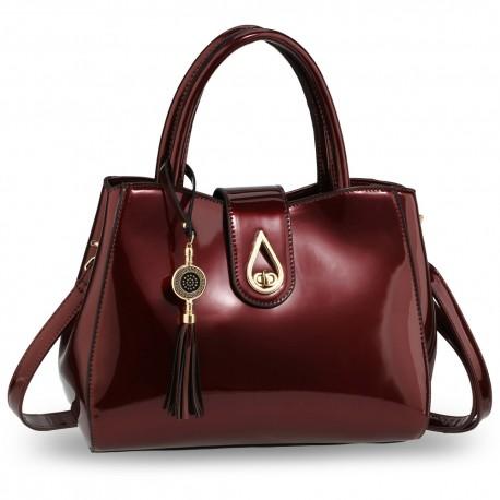 Burgundy Tassel Bag