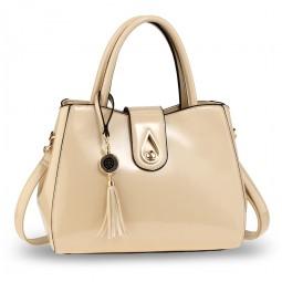 Beige Tassel Bag