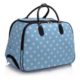Cestovní taška s kolečky Ashley Puntík Modrá