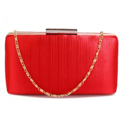 Psaníčko Red Satin Clutch