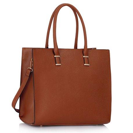 Elegantní kabelka Ashley Fashion Hnědá