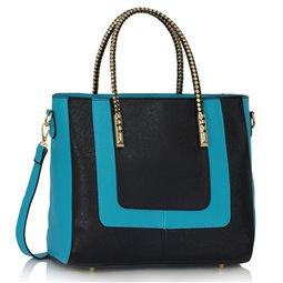 Elegantní kabelka Ashley Double Černo-modrá