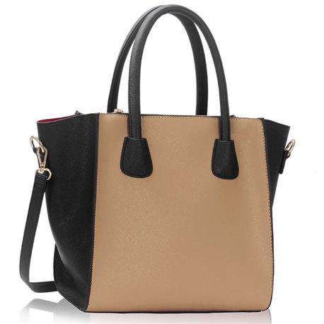 Elegantní kabelka Ashley Simple Nude-černá