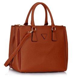 Elegantní kabelka Ashley Triangle Hnědá