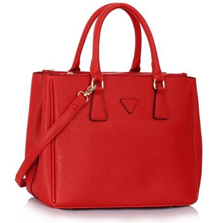 Elegantní kabelka Ashley Triangle Červená