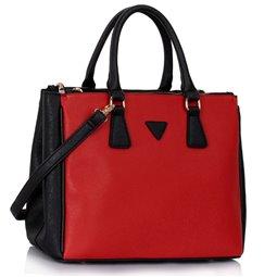 Elegantní kabelka Ashley Triangle Černo-červená