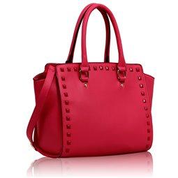 Elegantní kabelka Ashley Classic Studs Růžová