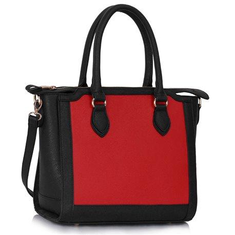Kabelka Ashley Orient Simple Černo-červená