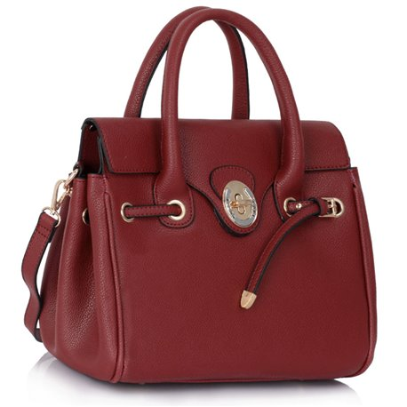 Kabelka Ashley Twist Lock M Burgundy
