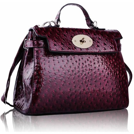 Kabelka Ashley Rotaty Ostrich Burgundy