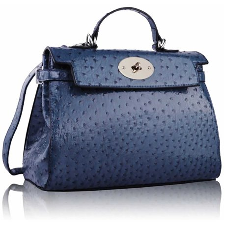 Kabelka Ashley Rotaty Ostrich Navy