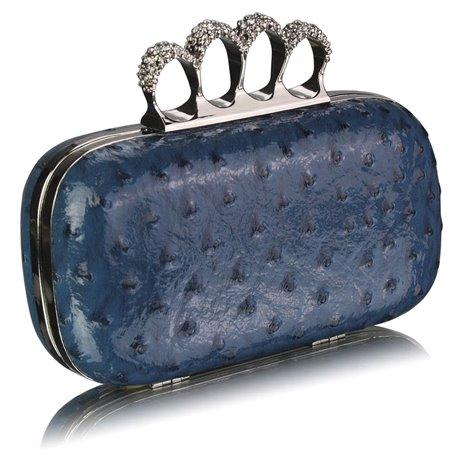 Psaníčko Ashley Ostrich Lesk Navy (Modré)