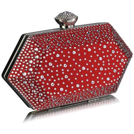 Psaníčko Ashley Diamond Hexagon Červené