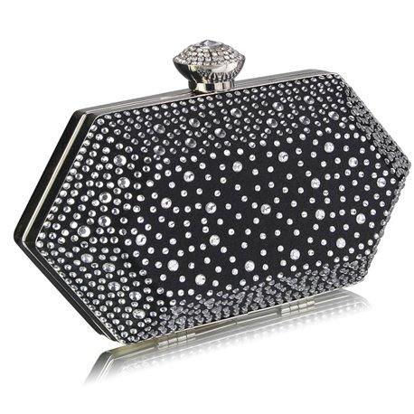 Psaníčko Ashley Diamond Hexagon Černé (Stříbrné)