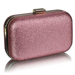Psaníčko Ashley Hard Glitter Champagne (Růžová)