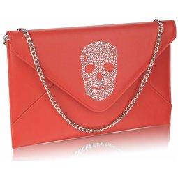 Psaníčko Ashley Letter Skull Červené