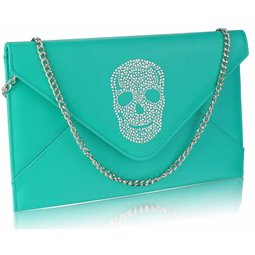 Psaníčko Ashley Letter Skull Emerald (Zelené)