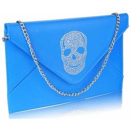 Psaníčko Ashley Letter Skull Teal (Modré)