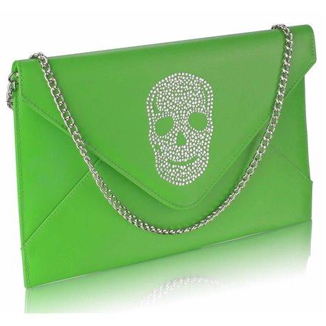 Psaníčko Ashley Letter Skull Zelené