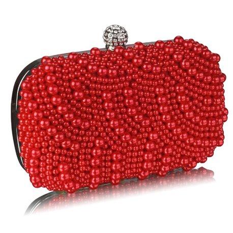 Psaníčko Ashley Oriental Pearls Červené