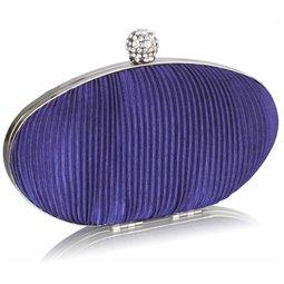 Psaníčko Ashley Oval Ribbing Navy (Modré Fialové)