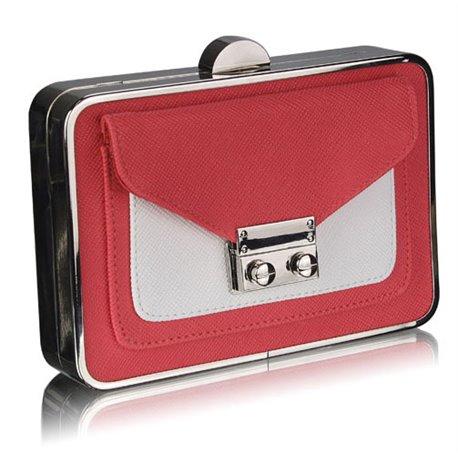 Psaníčko Ashley Box Coral (Růžové Červené Bílé)