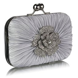 Psaníčko Ashley Flower Diamond Stříbrné (Šedé)