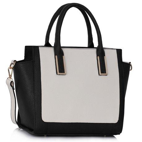 Dámská kabelka Ashley Two Layers Černo-bílá