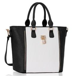 Dámská kabelka Ashley PadKey Černo-bílá