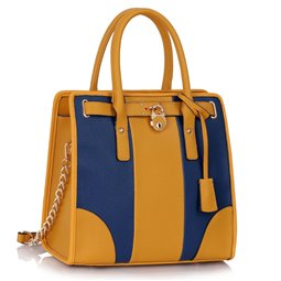 Dámská kabelka Ashley Chain Modro-žlutá