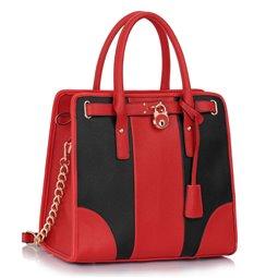 Dámská kabelka Ashley Chain Černo-červená