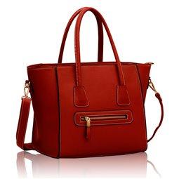 Dámská kabelka Ashley Zipper Červená