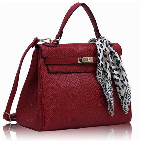 Dámská kabelka Ashley Snake Bow Červená