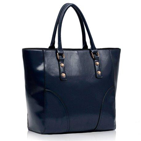 Dámská kabelka Ashley Rounded Lesk Navy (Modrá)