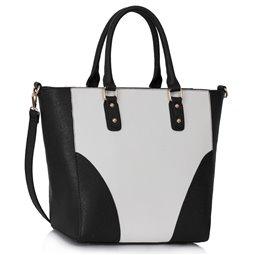 Dámská kabelka Ashley Rounded L Černo-bílá