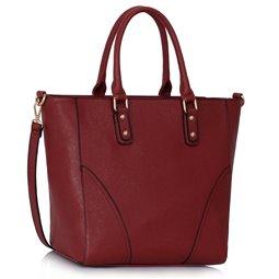 Dámská kabelka Ashley Rounded L Burgundy (Vínová Červená)