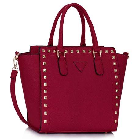 Dámská kabelka Ashley Border Burgundy (Vínová Červená)