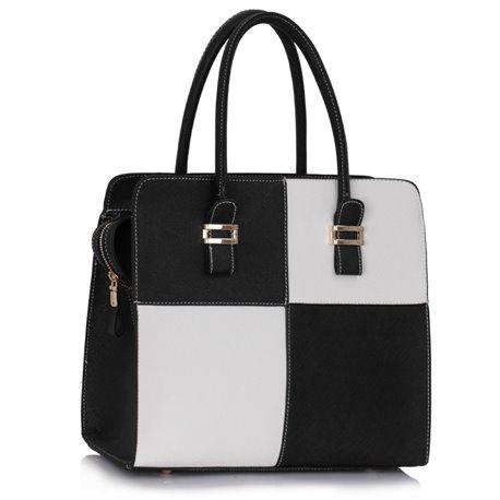 Dámská kabelka Ashley Multi Squares Černo-bílá