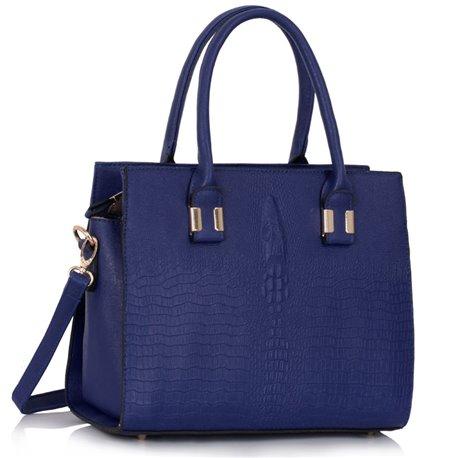 Dámská kabelka Ashley Four Croc Navy (Modrá)