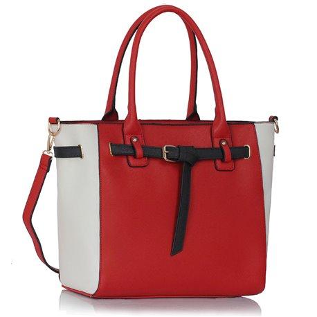 Dámská kabelka Ashley Entanglement Červeno-bílá