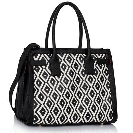 Dámská kabelka Ashley Board  X Černo-bílá