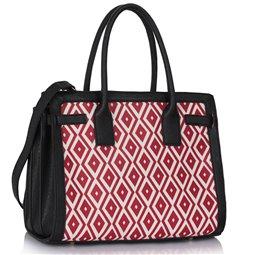 Dámská kabelka Ashley Board  X Černo-růžová (Červená)