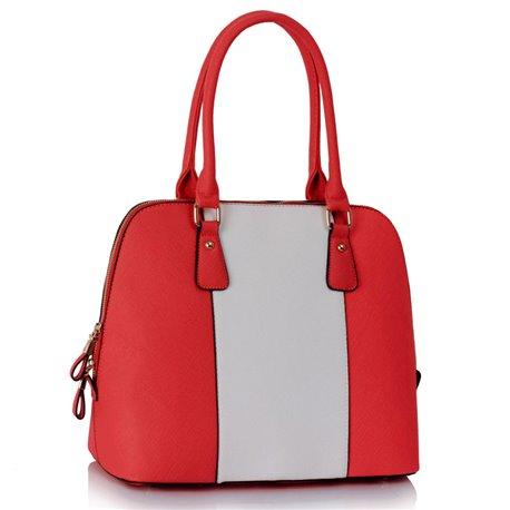 Dámská kabelka Ashley Stripes Červeno-bílá